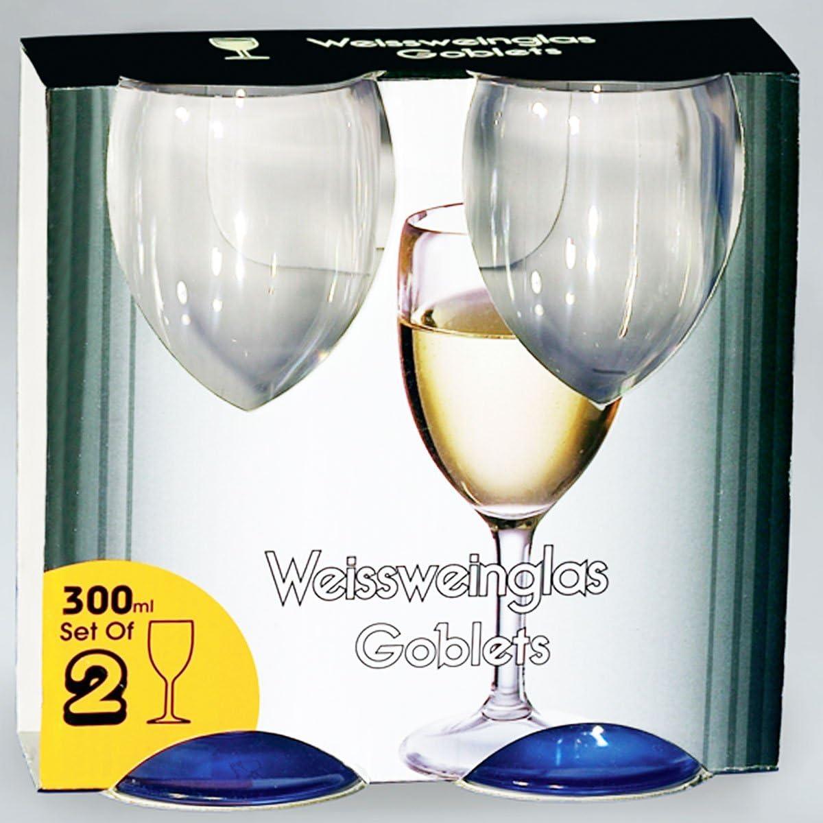 11 PC Weißweinglas Amato klarblau 300 ml 2 Stück Glas Optik