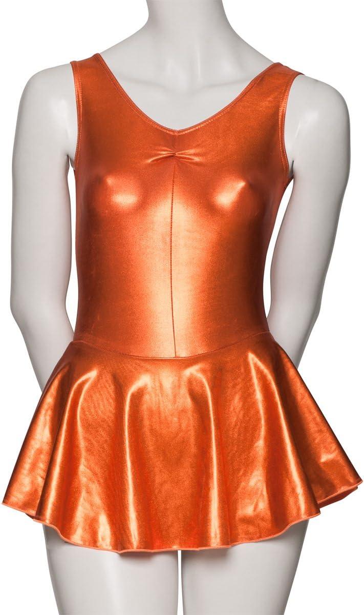 Katz Dancewear Girls Ladies Metallic Dance Leotard With Skirt Dress KDR005 Halloween
