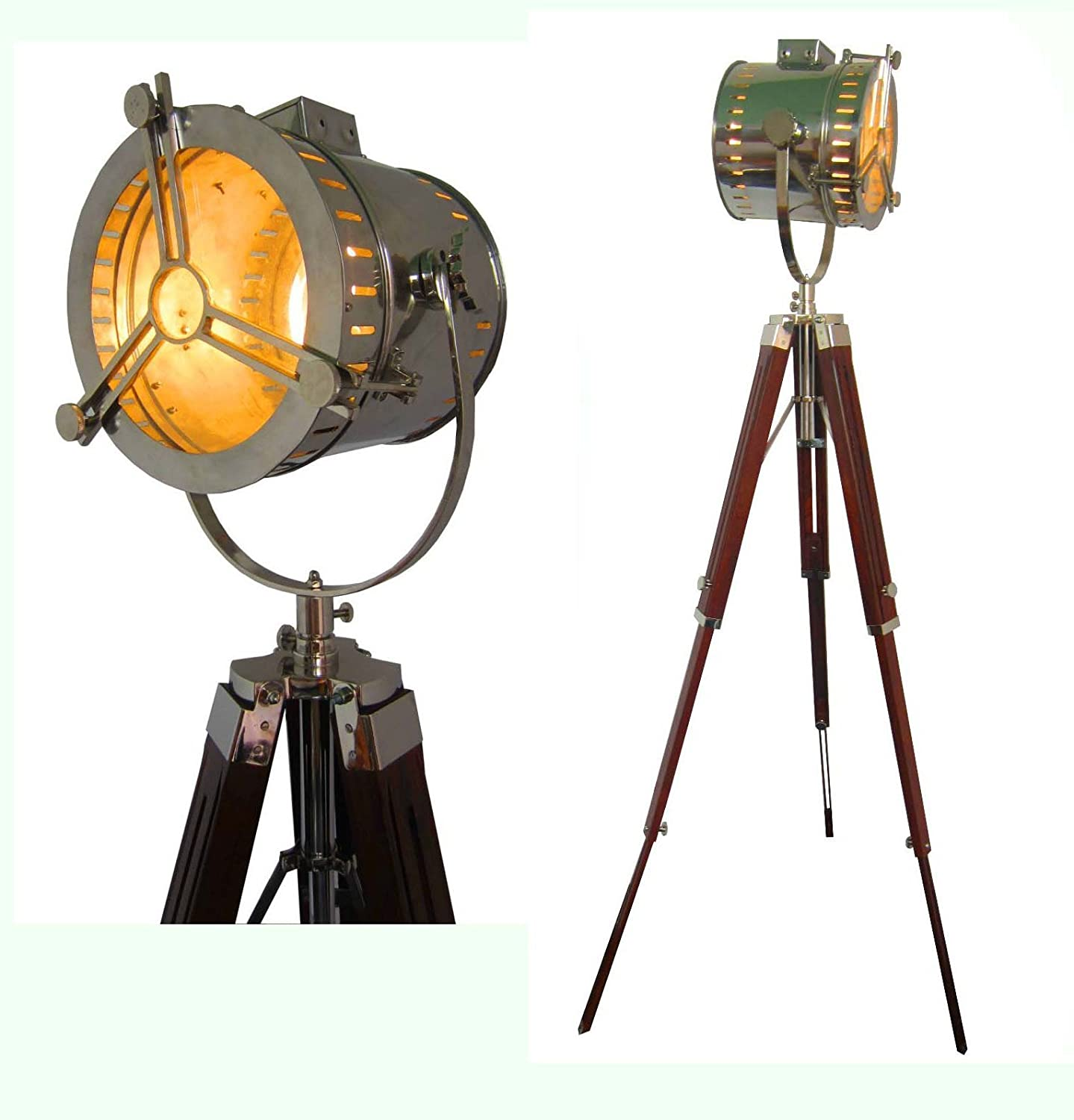 Hollywood Nautical Vintage Searchlight Steel Floor Lamp Spotlight ...