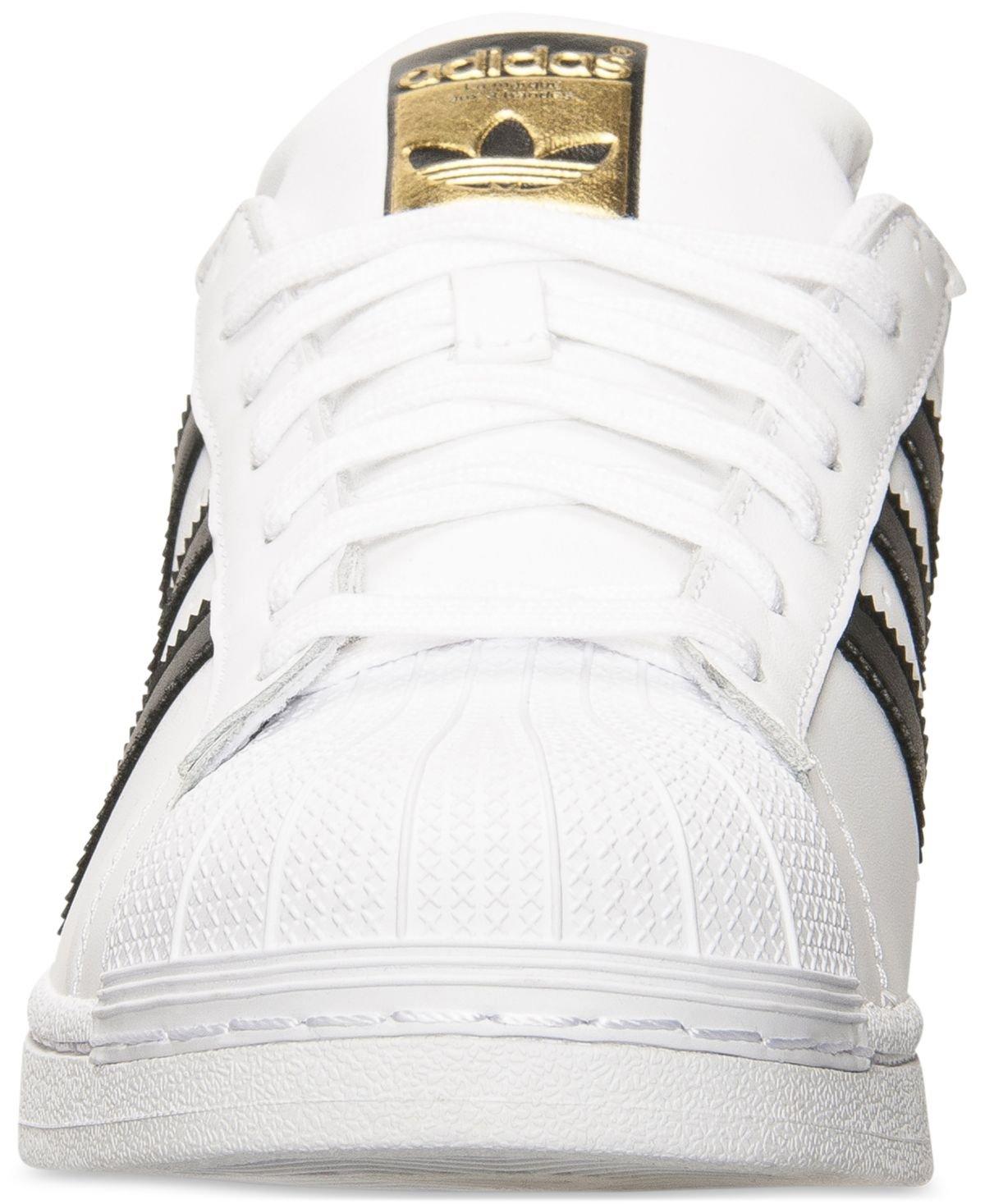 adidas Originals Men's Superstar Casual Sneaker, White/Core Black/White, 9.5 M US by adidas Originals (Image #3)