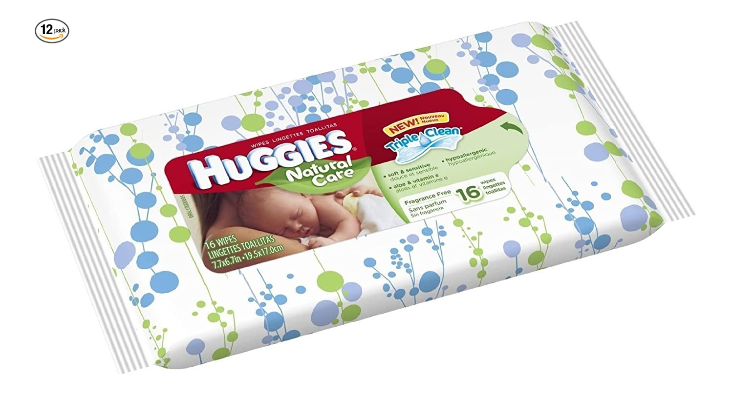 Huggies Bundle - Natural Care Unscented Baby Travel Wipes 16ct. Each by Huggies: Amazon.es: Bebé