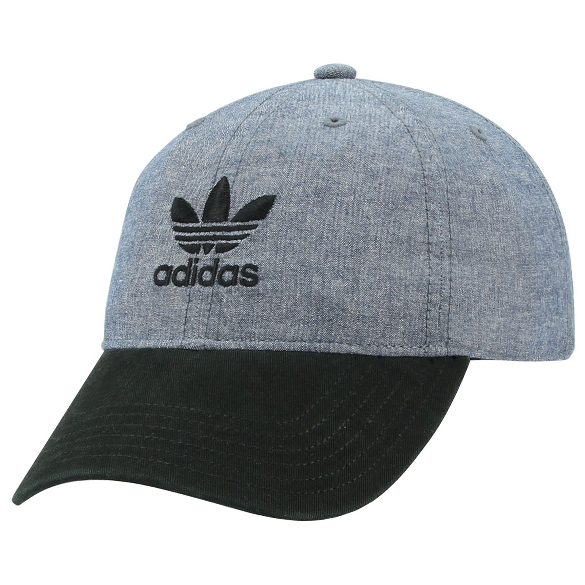 adidas Women's Originals Relaxed Adjustable Strapback Cap, Blue Chambray/Black, One Size