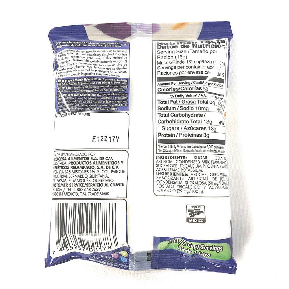 DGari Gelatin Dessert Leche Condensada- Condensed Milk 4.9 oz- 5 pack