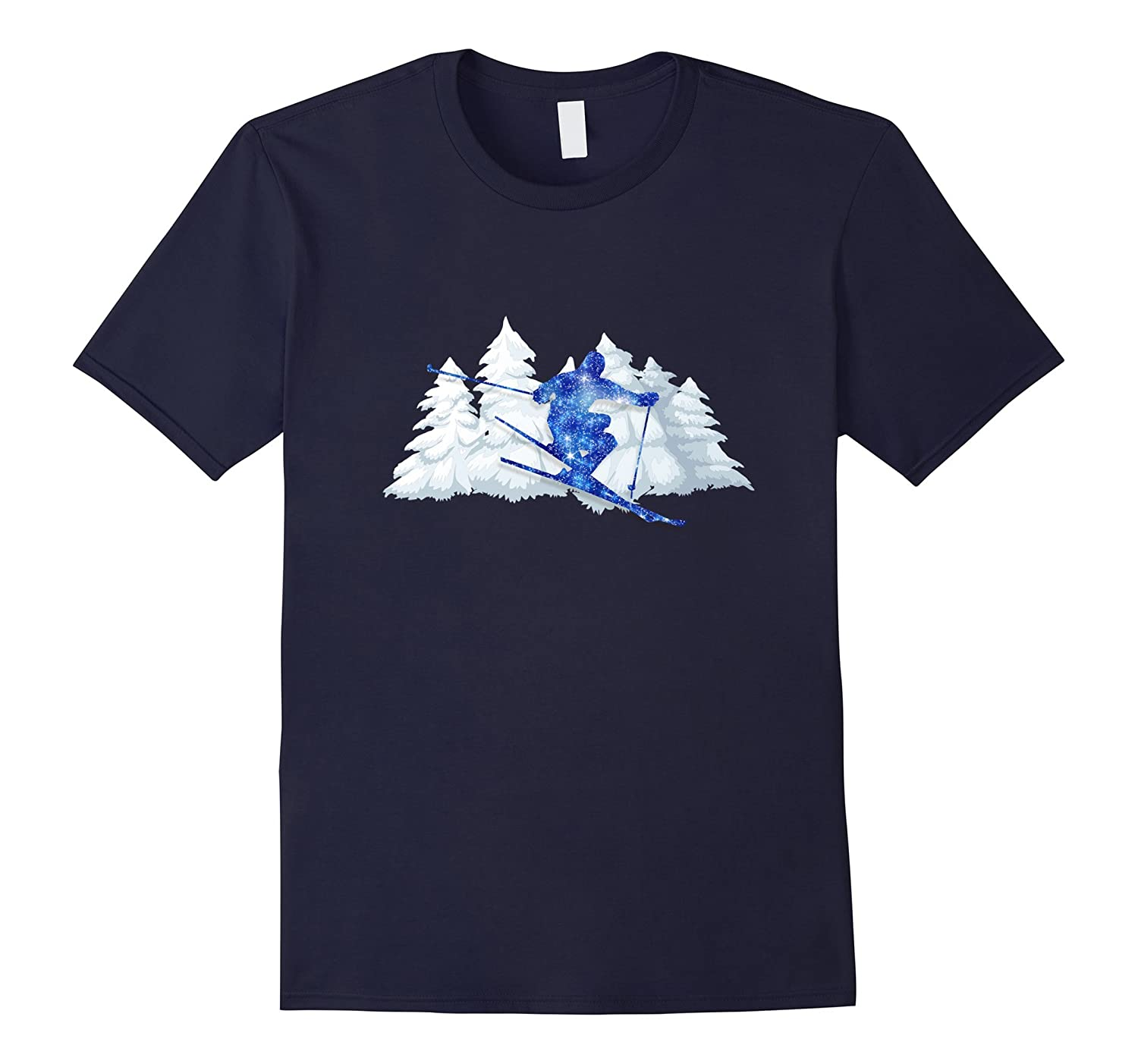 Snow Skiing T Shirt for Christmas Holiday Season-FL