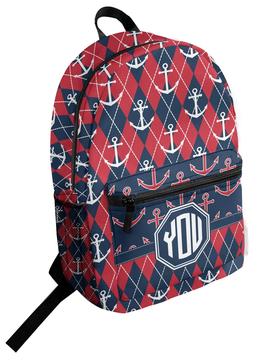 Anchors /& Argyle Student Backpack Personalized