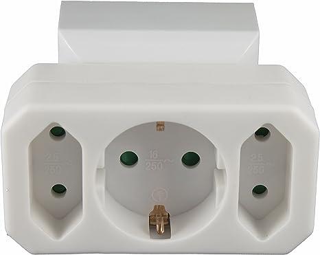 Multistecker Adapterstecker Schutzkontakt Verteiler Mehrfachstecker 3 Fach 4 Fach 2 Fach 1 Schucko 2 Euro Baumarkt
