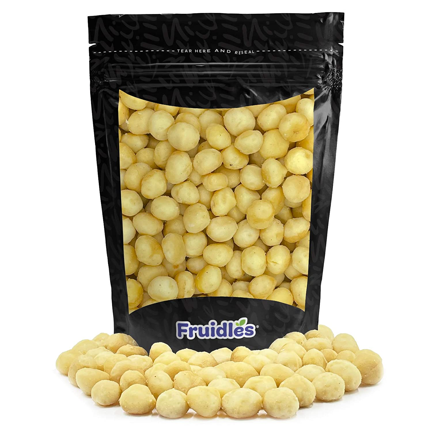 Macadamia Nuts, Roasted & Salted, Non-GMO, Gluten-Free, Healthy Fat, Kosher Certified, Emergency Food, Survival Food, Half-Pound