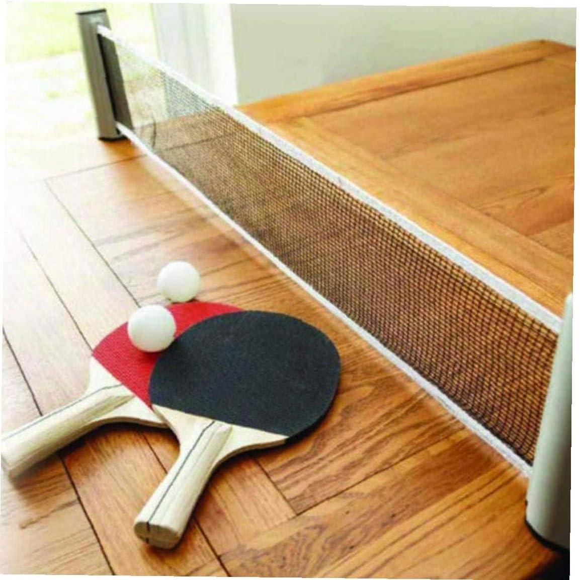 Byfri Mesa De Pong Neto Portátil En Cualquier Lugar Retráctil Pong Post Net Rack para Cualquier Tabla (Color Azar)