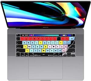 MacBook Pro Final Cut Pro X Keyboard Cover, Ultra Thin Skin Fits 13 & 16 Inch Mac Pro Laptop Computer Models 2020+, 100 Functional Shortcut Keys for Faster Photo Editing by Editors Keys