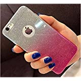 Loxxo Gradient Glitter Skin Soft Silicone Slim Back Cover Case For Apple iPhone 6/6S (Pink)