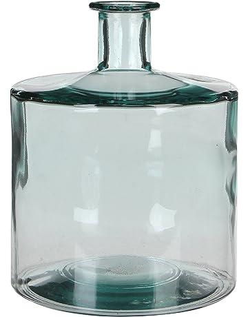 MICA Decorations Guan Botella de Cristal/ – Jarrón, Vidrio, Transparente