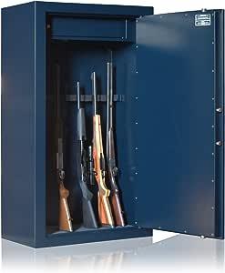 Armario Forte ignífuga Elite Gold 10 armas + baúl, azul: Amazon.es: Deportes y aire libre