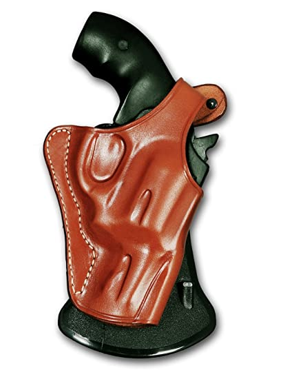 Leather OWB Paddle Holster, Thumb Break for Revolver S&W J Frame  2'',36,442,649 Bodyguard, Brown R/H Draw #1056#