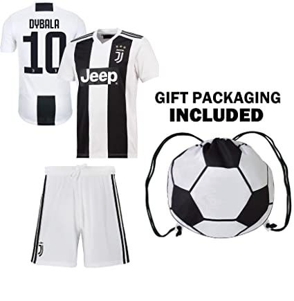 25a6ac7c0 Dybala Juventus Home Youth Soccer Jersey   Shorts   Kit Bag Ggreat GIFT for  Kids Boys