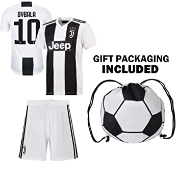 info for 3ab54 8e099 Dybala Juventus Home Youth Soccer Jersey & Shorts & Kit Bag Great Gift for  Kids Boys Girls Football Jersey Juve Dybala #10