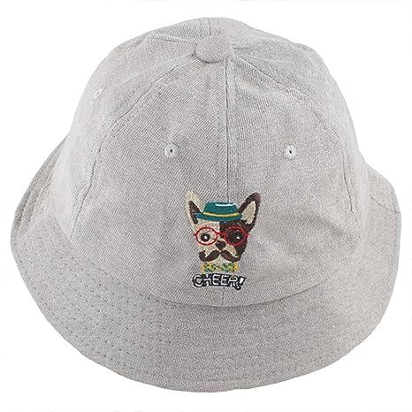 AJOG Unisex Secchio Cappello Per Il Sole Primavera Estate Protezione  Visiera Cappelli Cane Ricamo Harajuku Pescatore 79cdb13de242
