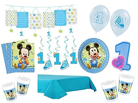 Xxl Party Deko Set 1 Geburtstag Mickey Baby Kindergeburtstag