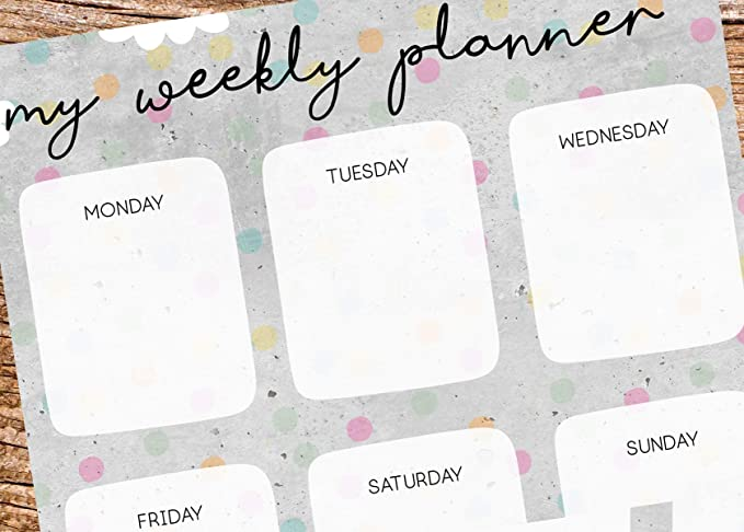 My Weekly Planner gris con Tiger Diseño - Bloque A5 Semana ...