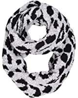 HUE21 Leopard Double Side Infinity Scarf