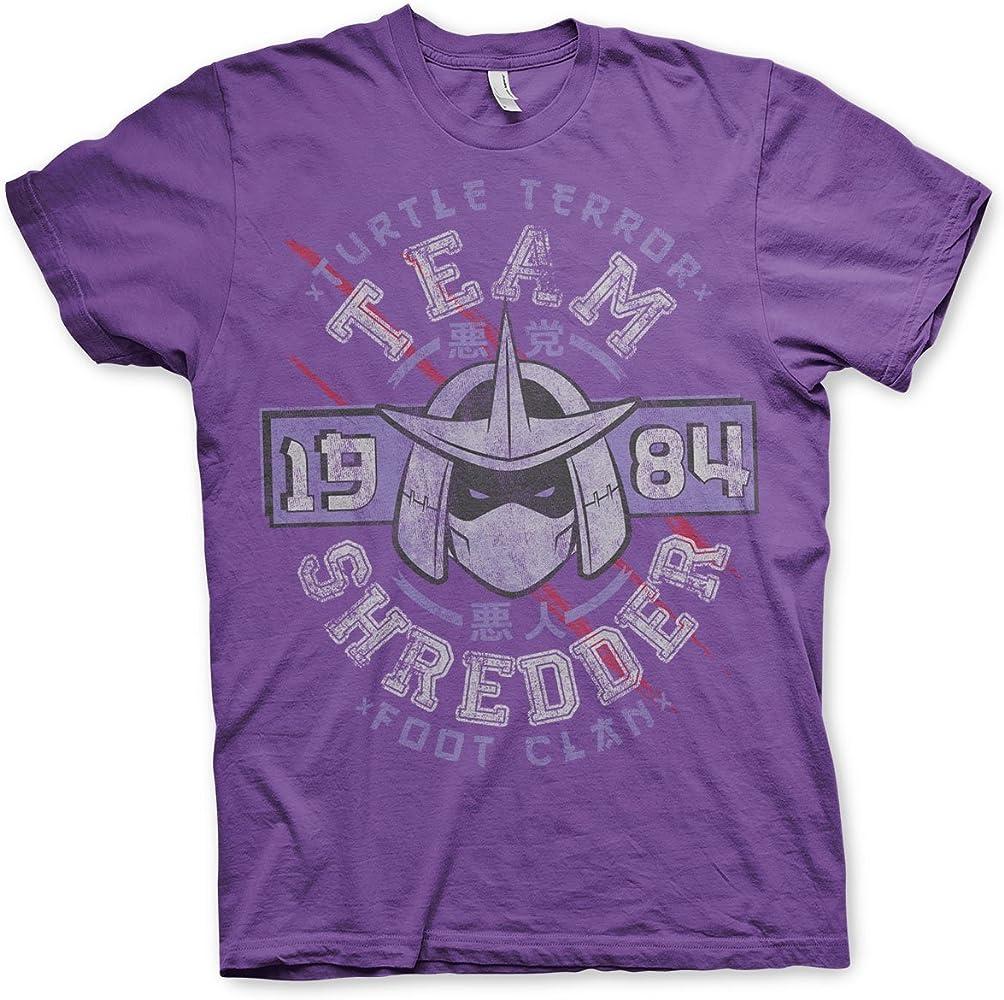 Teenage Mutant Ninja Turtles Oficialmente Licenciado Team Shredder Hombre Camiseta (Púrpura), Small: Amazon.es: Ropa y accesorios