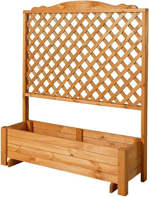 baumarkt direkt – Celosía de madera con maceta, 120 x 140 cm 1 STK., 140 cm: Amazon.es: Jardín