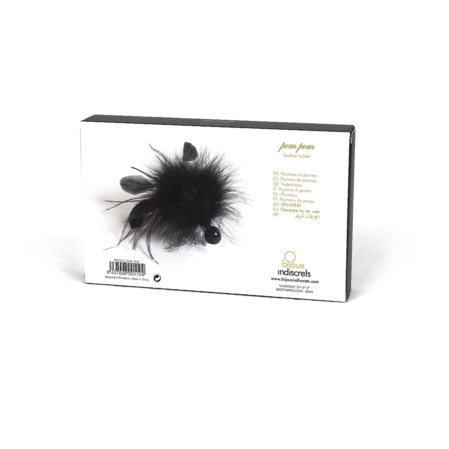 Amazon.com: Bijoux Indiscets, Si Pom Pom Feather Tickler, Black: Health & Personal Care