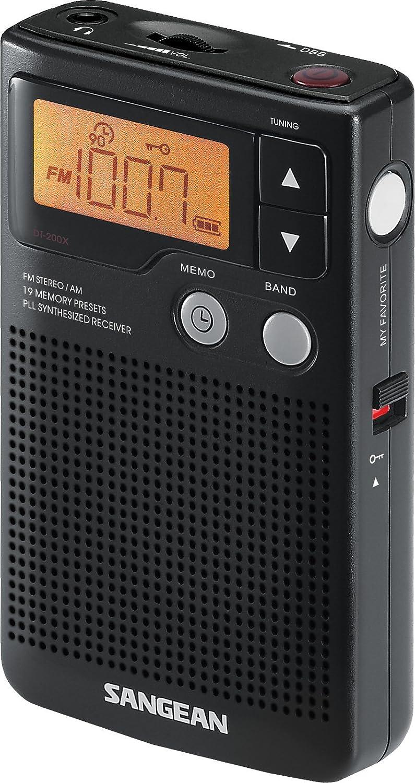 Sangean DT-200X FM-Stereo/AM Digital Tuning Pocket Radio: Home Audio & Theater