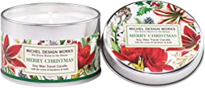 Michel Design Works Soy Wax Candle in Travel Tin Size, Merry Christmas