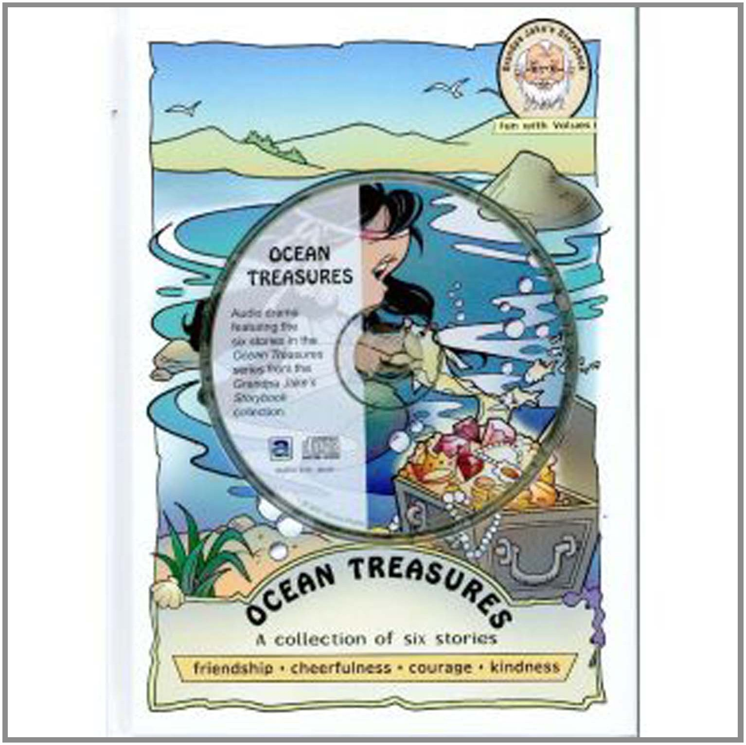 Ocean Treasures-Grandpa Jake's Hard Cover Kids Book-Plus Audio Book-Fun-Values-Friendship-Courtesy-Courage-Prayer-Short Stories for ... Kids-Helping Other (Grandpa Jake's Storybook) ebook
