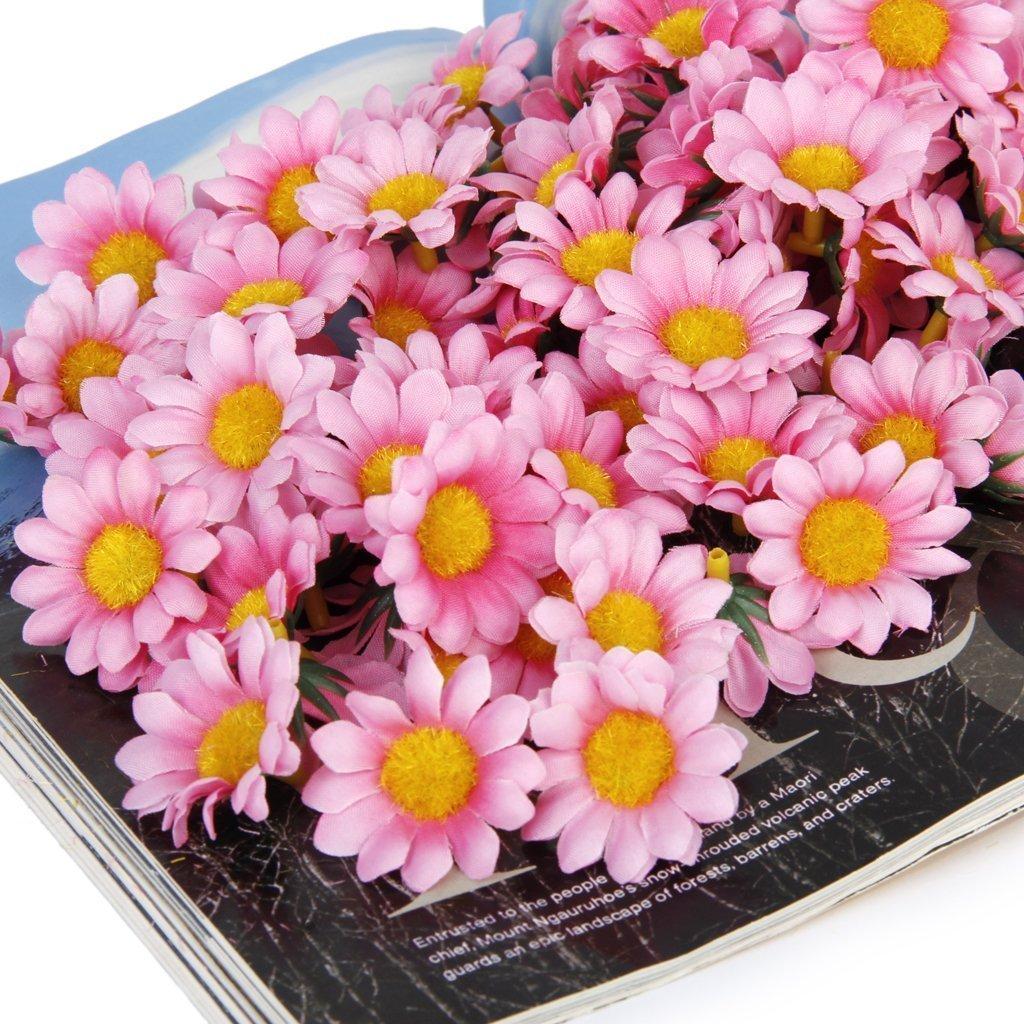 Amazon 100pcs Artificial Flowers Wholesale Fake Flowers Heads