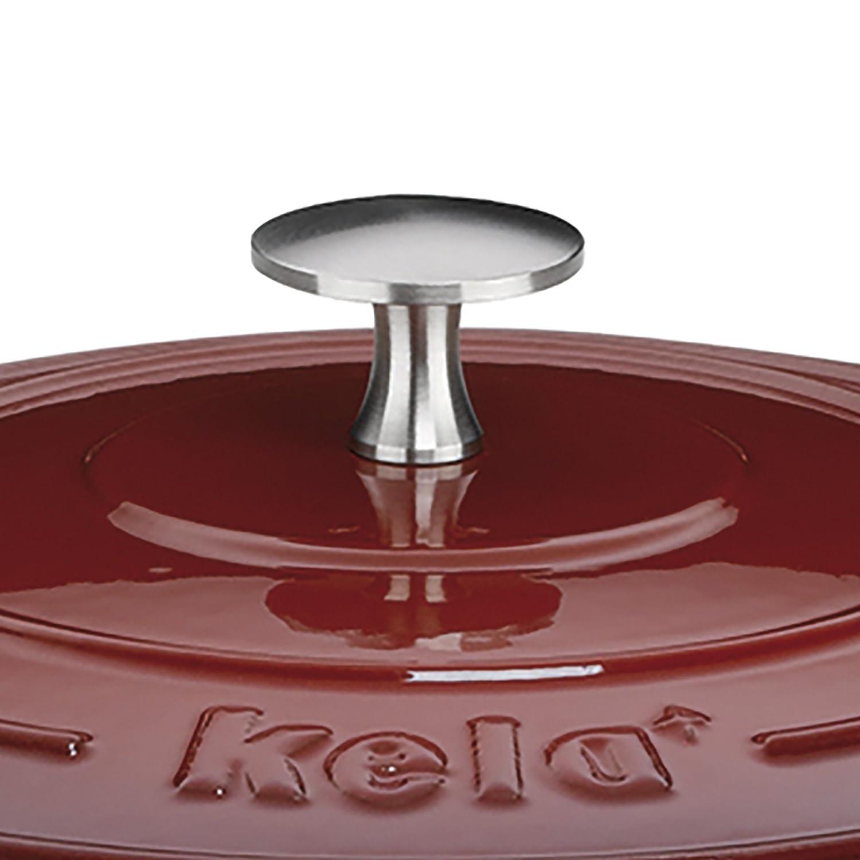 Rosso Ghisa 26/cm Diametro 5/L KECKU 11948/Rostiera calido Circa 12/cm