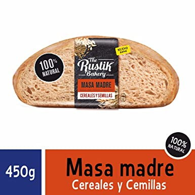 Hogaza masa madre, cereales y semillas - 450 g: Amazon.es ...