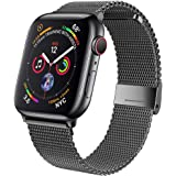 jwacct Compatible for Apple Watch Band 38mm 40mm 42mm 44mm, Adjustable Stainless Steel Mesh Wristband Sport Loop for…