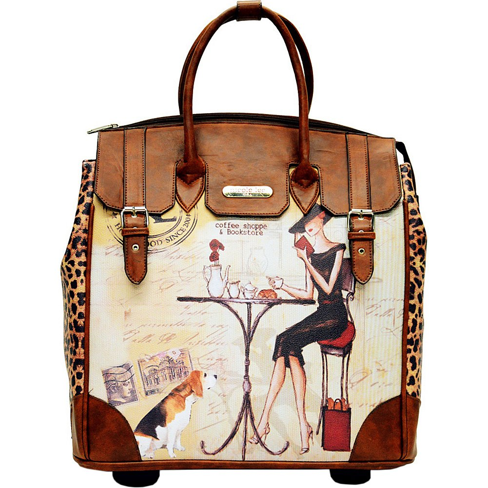 Nicole Lee Fiona Rolling Business Tote, Coffee, One Size