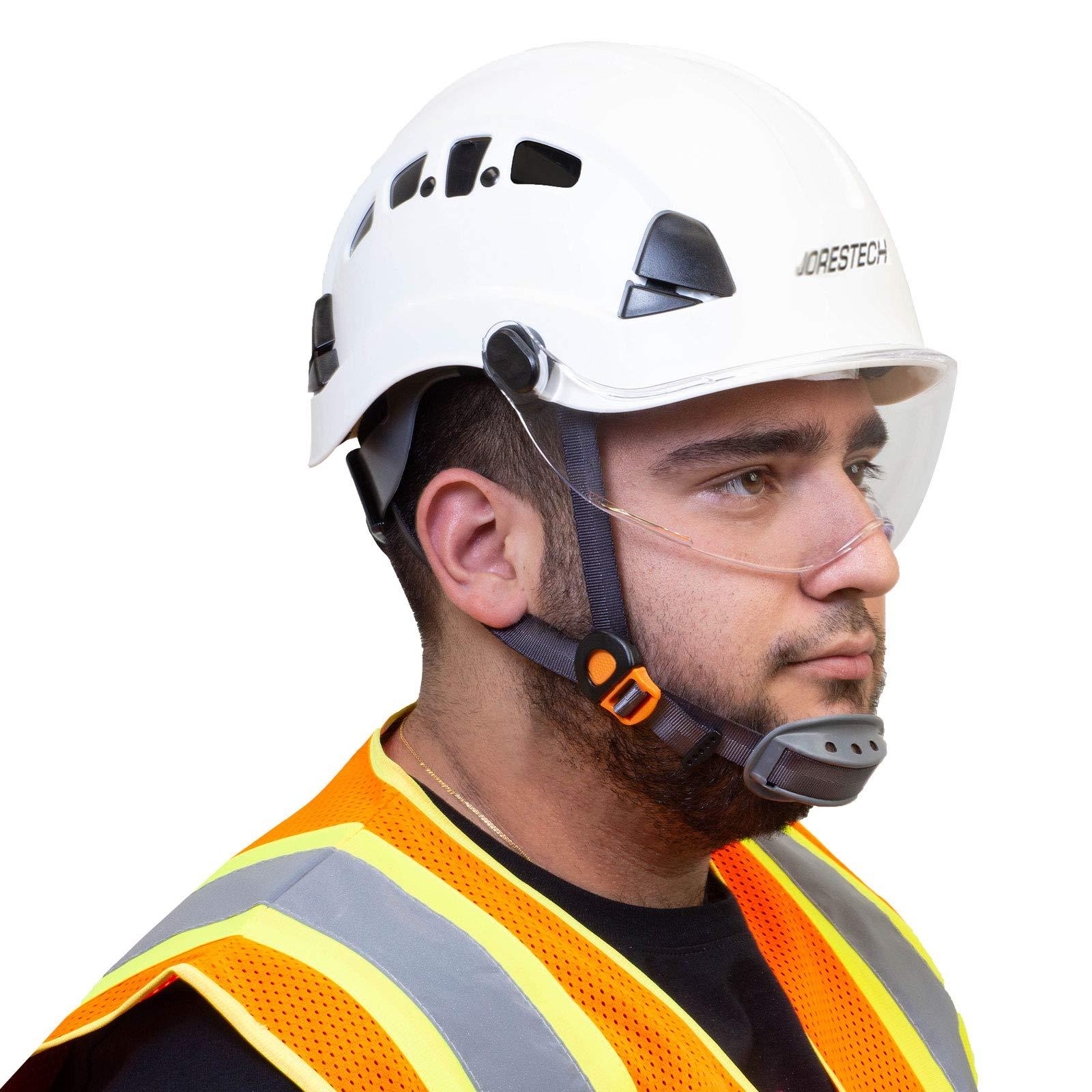 JORESTECH Sliding Retractable Integral Visor Shield for Helmet Mounted Eye Protection PPE by JORESTECH (Image #6)