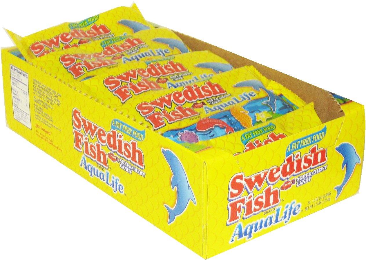 Amazon com : Swedish Fish - Aqualife 24ct  : Gummy Candy