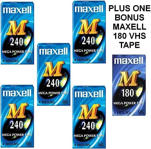 Box Mit 5 Maxell M 240 Vhs Videokassetten Plus 1 Maxell Kamera