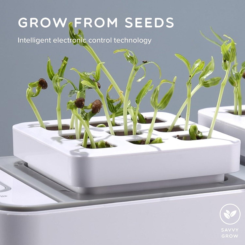 Amazoncom Smart Hydroponics Indoor Herb Garden Kit By SavvyGrow