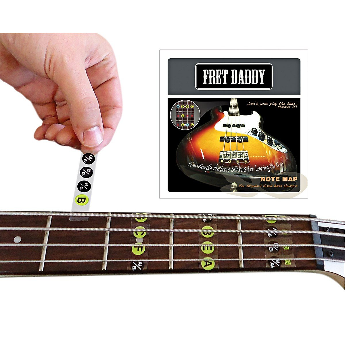 Fret Daddy The Fretboard Note Map For Bass Guitar Strings Notes Diagram Chart String 0886830648656 Books