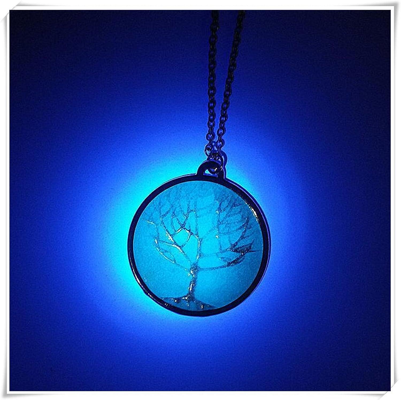 Árbol azul luminoso collar