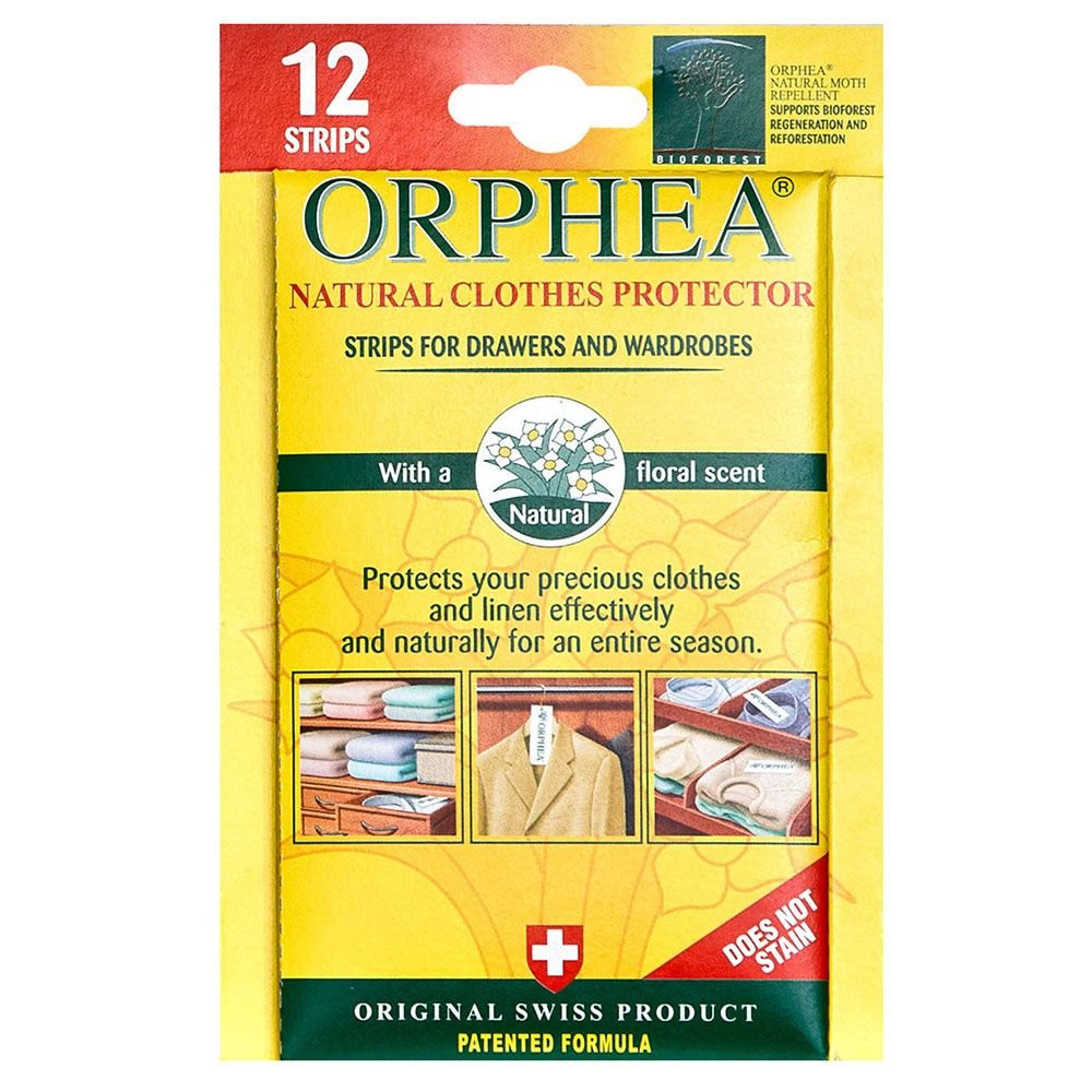 Caraselle 12 Orphea Moth Repellent Strips For Drawers & Wardrobes All Natural Floral Fragrance from
