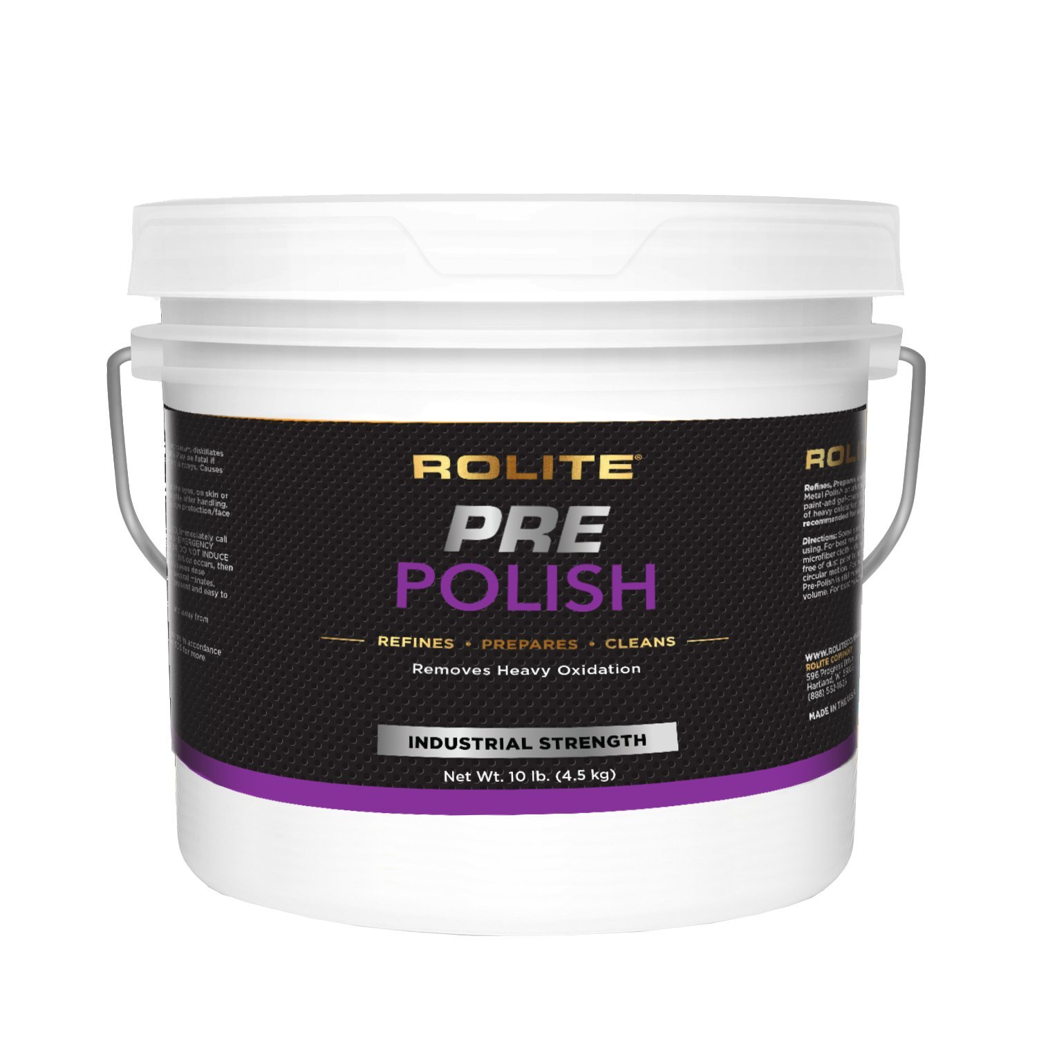 Rolite Pre-Polish (10lb) for Heavily Oxidized, Stained, Discolored and Corroded - Aluminum, Brass, Bronze, Chrome, Copper, Nickel, Paint & Gel-Coated Fiberglass and Stainless Steel