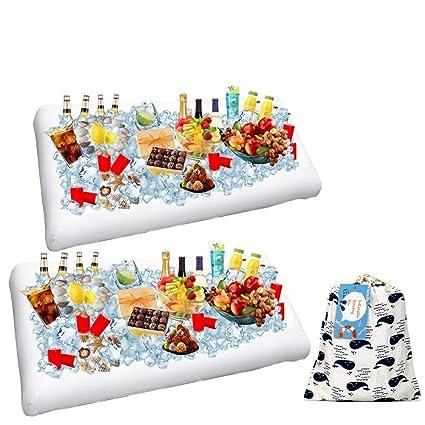 amazon com 2 pack inflatable salad bar buffet ice cooler beverage rh amazon com