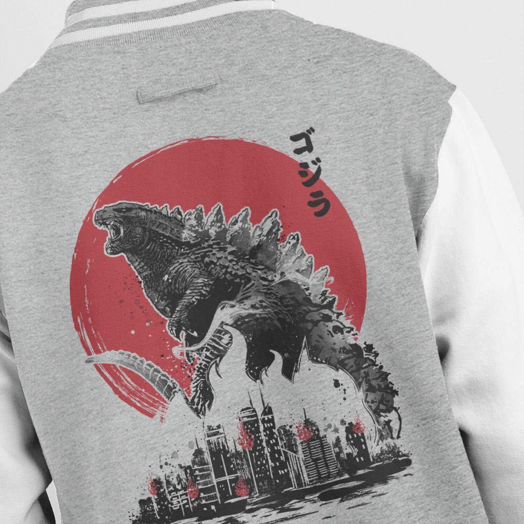 Cloud City 7 Kaiju Attack Godzilla Kids Varsity Jacket