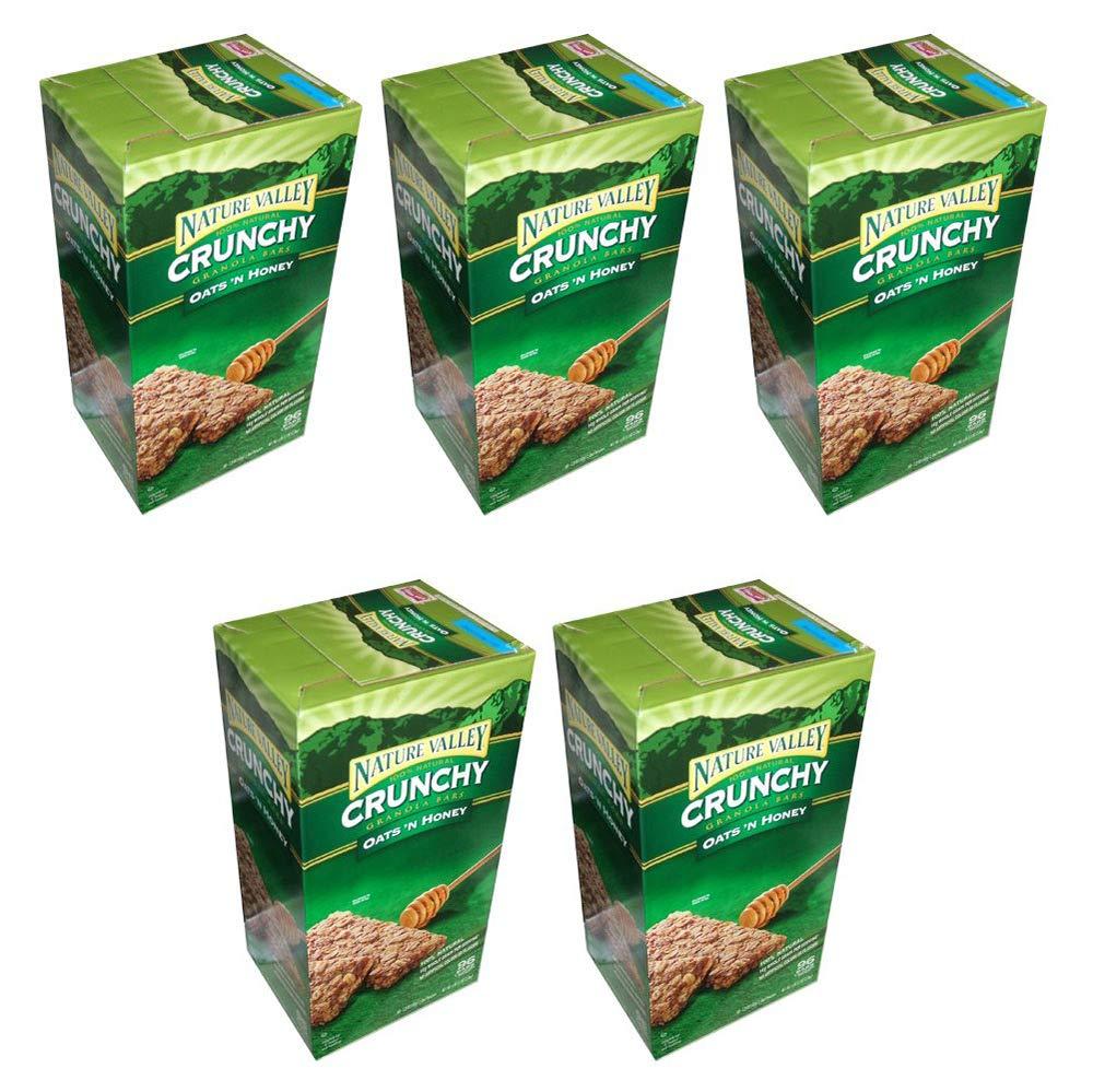 Nature Valley Crunchy Granola Bars Oats 'N Honey, 98 Bars (5 Boxes)