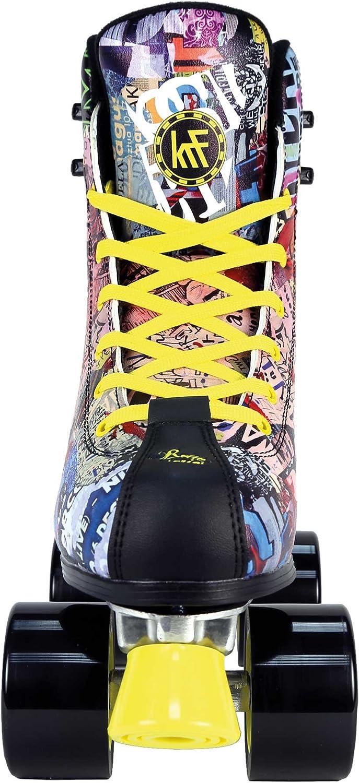 KRF The New Urban Concept Retro Art Fashion Junior Quad Roller Skates