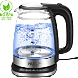 Electric Glass Kettle - 1.7L Stainless Steel Kettle in Double Wall Auto-Off & Boil-Dry Protection, Temperature Control, 1650W Fast Boiling Auto-Off Protection, Keep Warm Function for Milk Coffee&Tea
