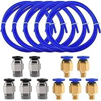 Twotrees 5 PCS (1M) PTFE tubing Blue Teflon tubingwith 5 PCS PC4-M6 Pneumatic connectors and 5 PCS PC4-M10 Connector for…