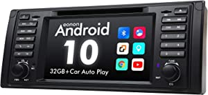 2020 Newest Car Stereo Android 10 Car Stereo Android Car Head Unit, Eonon Car GPS Navigation Support Apple Carplay/Android Auto/Bluetooth 5.0/WiFi/Fast Boot/DVR/Backup Camera/OBDII-7 Inch-GA9449