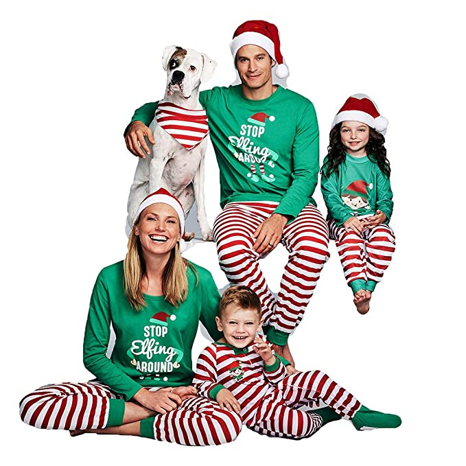Juqilu Pijamas de Navidad Establece la Ropa de Dormir a Juego Familiar Ropa de Dormir Ropa de casa para el Padre Madre niños bebé: Amazon.es: Ropa y ...